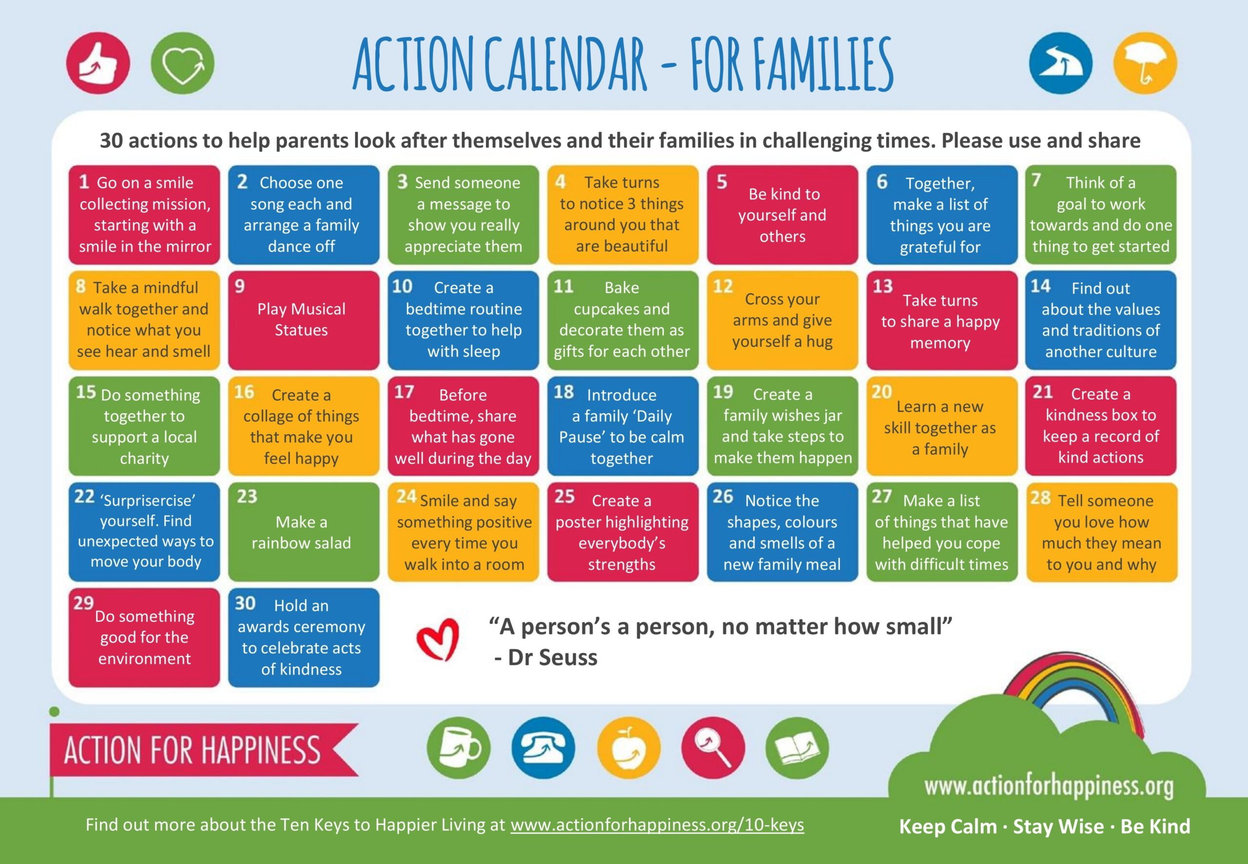 action for happiness action calendar