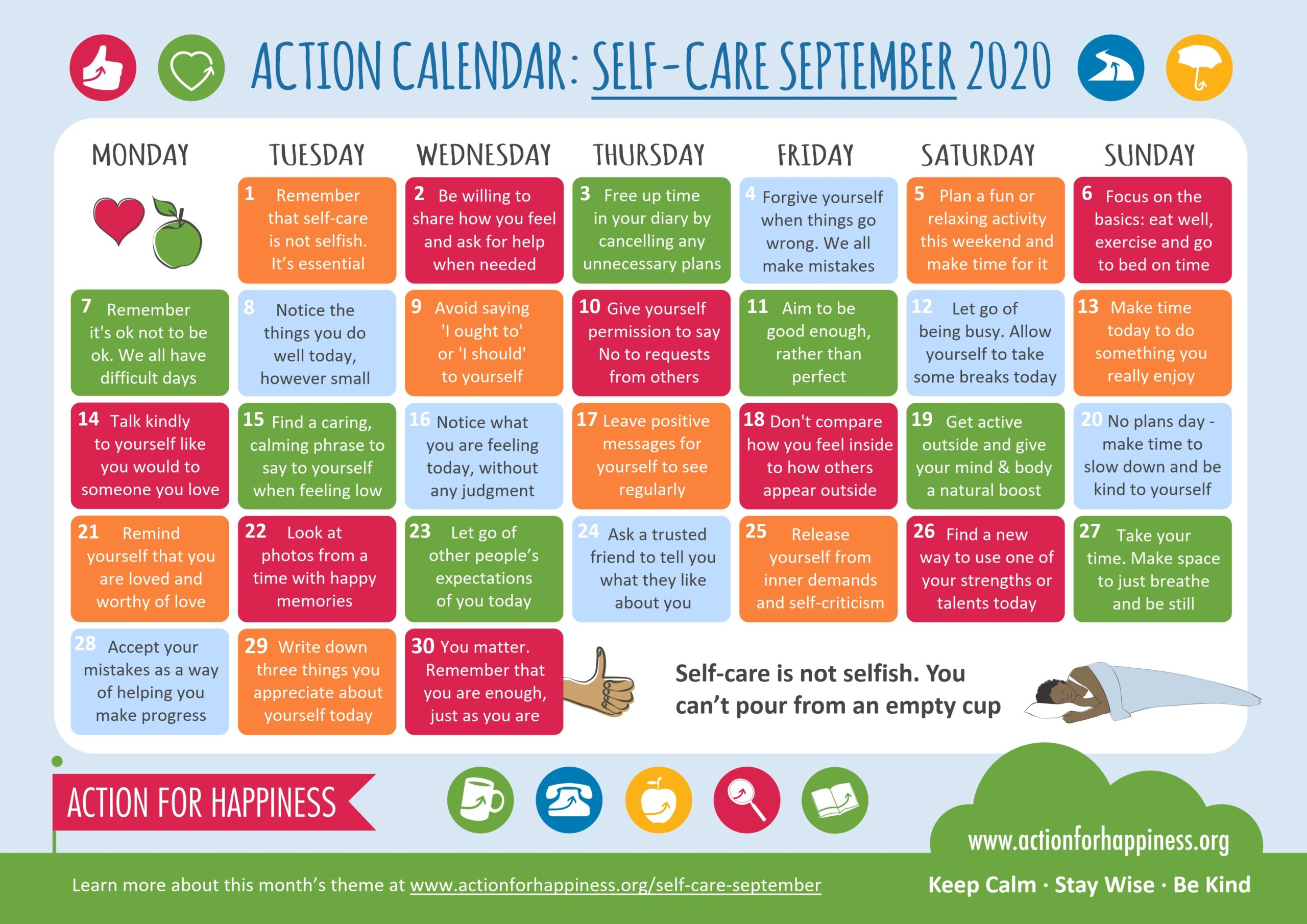 action for happiness calendar sept