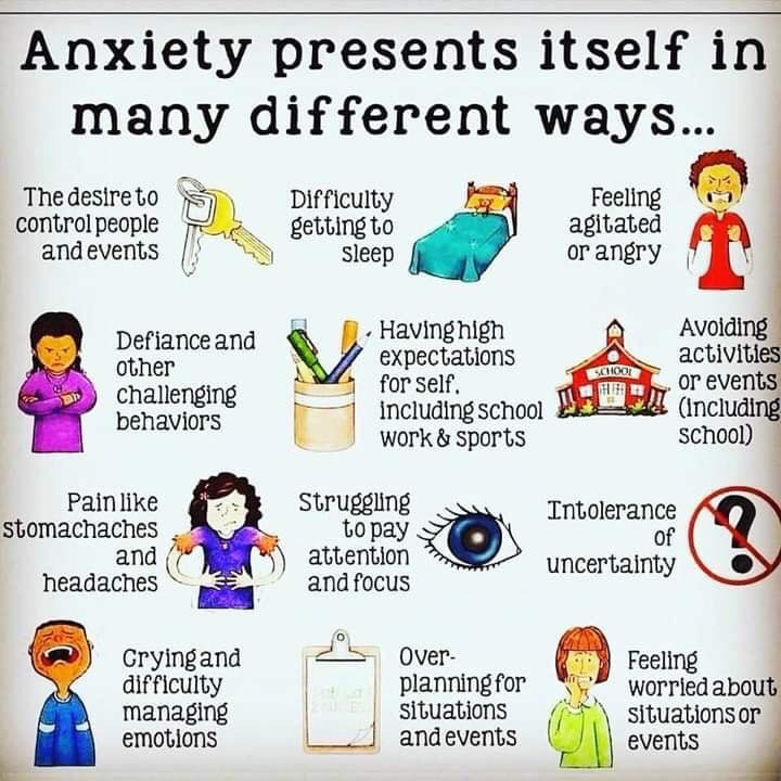 anxiety presents itself in many different ways