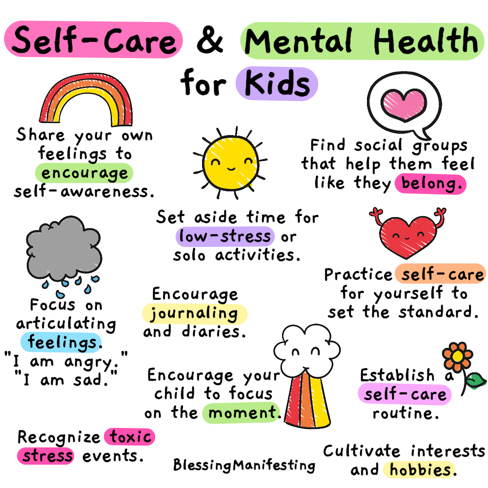 self care and mental health for kids